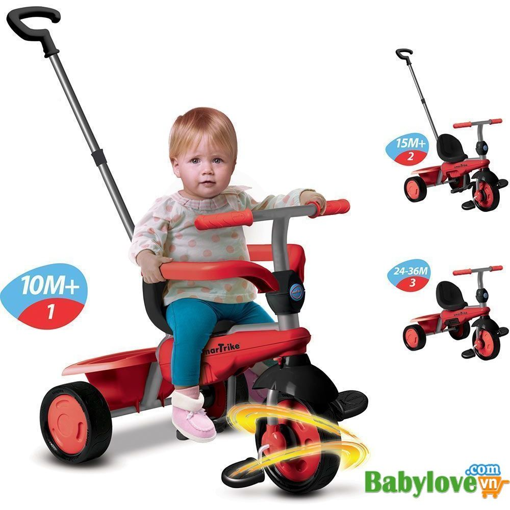 335c48ff26e Xe đạp 3 bánh Smart -Trikes Breeze 3 IN 1 Red|Babylovevn.com