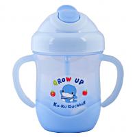 Bình uống nước ống hút có tay cầm kuku ku-5452 / Xanh