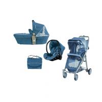 Bộ xe đẩy Brevi Crytal xanh nhạt BRE719-260