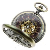Đồng hồ quả quýt bỏ túi ZIJAE hình rồng phượng CSB1014