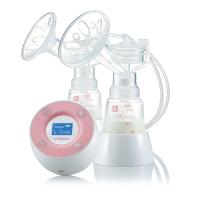 Máy hút sữa điện đôi không BPA Unimom Minuet có pin sạc kèm Adapter UM871692 Tặng 30 túi trữ sữa Unimom