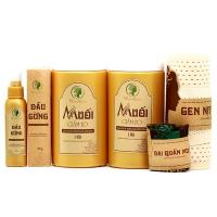 BỘ MUỐI GIẢM EO SIÊU TIẾT KIỆM (Bộ có 2 hũ muối 2kg muối thảo dược, 1 dầu gừng, 1 đai quấn muối và 1 Gen nịt bụng)