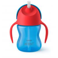 Bình tập uống có ống hút Philips Avent SCF796/00 từ 9 tháng tuổi (200ml) - Màu xanh