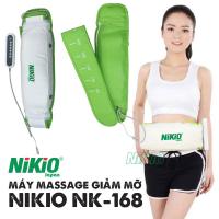 Máy massage giảm mỡ bụng Nhật Bản Nikio NK-168 (Trắng phối xanh)