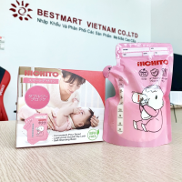 Túi Trữ Sữa Nhật Bản HICHITO 250ml Có Vòi Rót Tiện Lợi ( 1 Hộp 30 Túi)