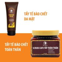 Bộ Tẩy Tế Bào Chết Cho Da WonMom (1 Srcub Cafe Tẩy Toàn Thân và 1 Srcub Nghệ Tẩy Mặt)