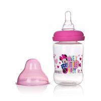 (Made in Thailand) Bình Sữa Cổ Rộng Có Tay Cầm 125ml Disney Baby- DN80133 (Hồng)
