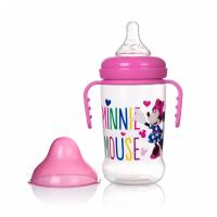 (Made in Thailand) Bình Sữa Cổ Rộng Có Tay Cầm 250ml Disney Baby- DN80132 (Hồng)