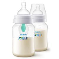 Combo 2 Bình sữa giảm đầy hơi với van giữ sữa AirFree Philips Avent SCF813/24- 260ml