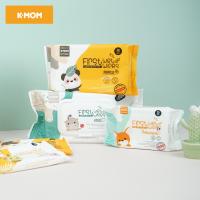 Khăn Ướt Cao Cấp K-Mom First Wet Wipe (70 tờ/Gói) Hàn Quốc ( Màu Ngẫu Nhiên) - 3 Gói