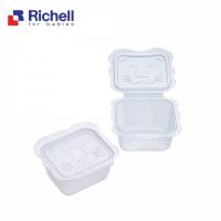 Bộ Hộp Trữ Thức Ăn Dặm Richell (50ML - 10 HỘP) - RC98106