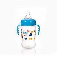 (Made in Thailand) Bình Sữa Cổ Rộng Có Tay Cầm 250ml Disney Baby- DN80132 (Xanh)
