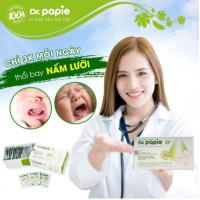 Gạc Rơ Lưỡi, Vệ Sinh Răng Miệng Cho Bé Dr Papie (1 hộp 30 gói)